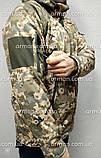 Куртка софтшел пиксель ВСУ. Оригинальная ткань softshell (ветровлагозащитная), фото 3