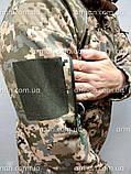 Куртка софтшел пиксель ВСУ. Оригинальная ткань softshell (ветровлагозащитная), фото 6