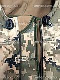 Куртка софтшел пиксель ВСУ. Оригинальная ткань softshell (ветровлагозащитная), фото 9