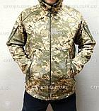 Куртка софтшел пиксель ВСУ. Оригинальная ткань softshell (ветровлагозащитная), фото 10