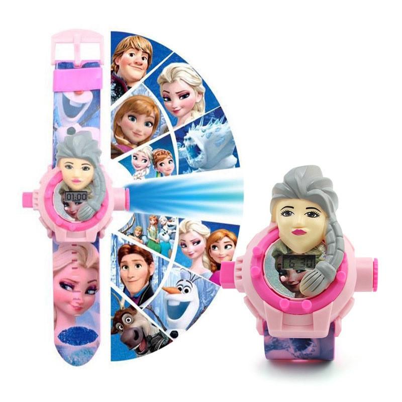 """Детские наручные часы с 3d проектором """"Холодное сердце (Frozen)"""""""