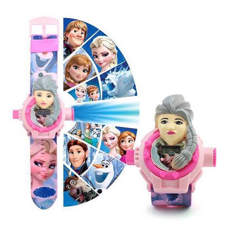 """Детские наручные часы с 3d проектором """"Холодное сердце (Frozen)"""", фото 2"""