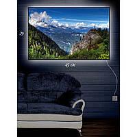 Картина с Led-подсветкой IdeaX Тайна горбатой горы 29х45 см