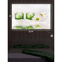 Картина с Led-подсветкой IdeaX Цветочная романтика 29х45 см