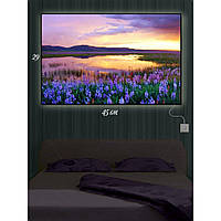 Картина с Led-подсветкой IdeaX Цветы на берегу 29х45 см