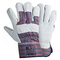 Перчатки из замша комбинированные цельная ладонь Sigma 9448361