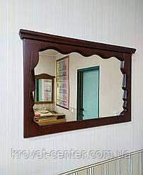 """Настінне дзеркало в дерев'яній рамці """"Версаль"""" (італійський горіх) від виробника"""