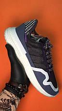 Кроссовки мужские Adidas ZX 500 RM фиолетовые-белые (Top replic), фото 2