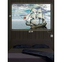 Картина с Led-подсветкой IdeaX И корабль приплыл 29х45 см