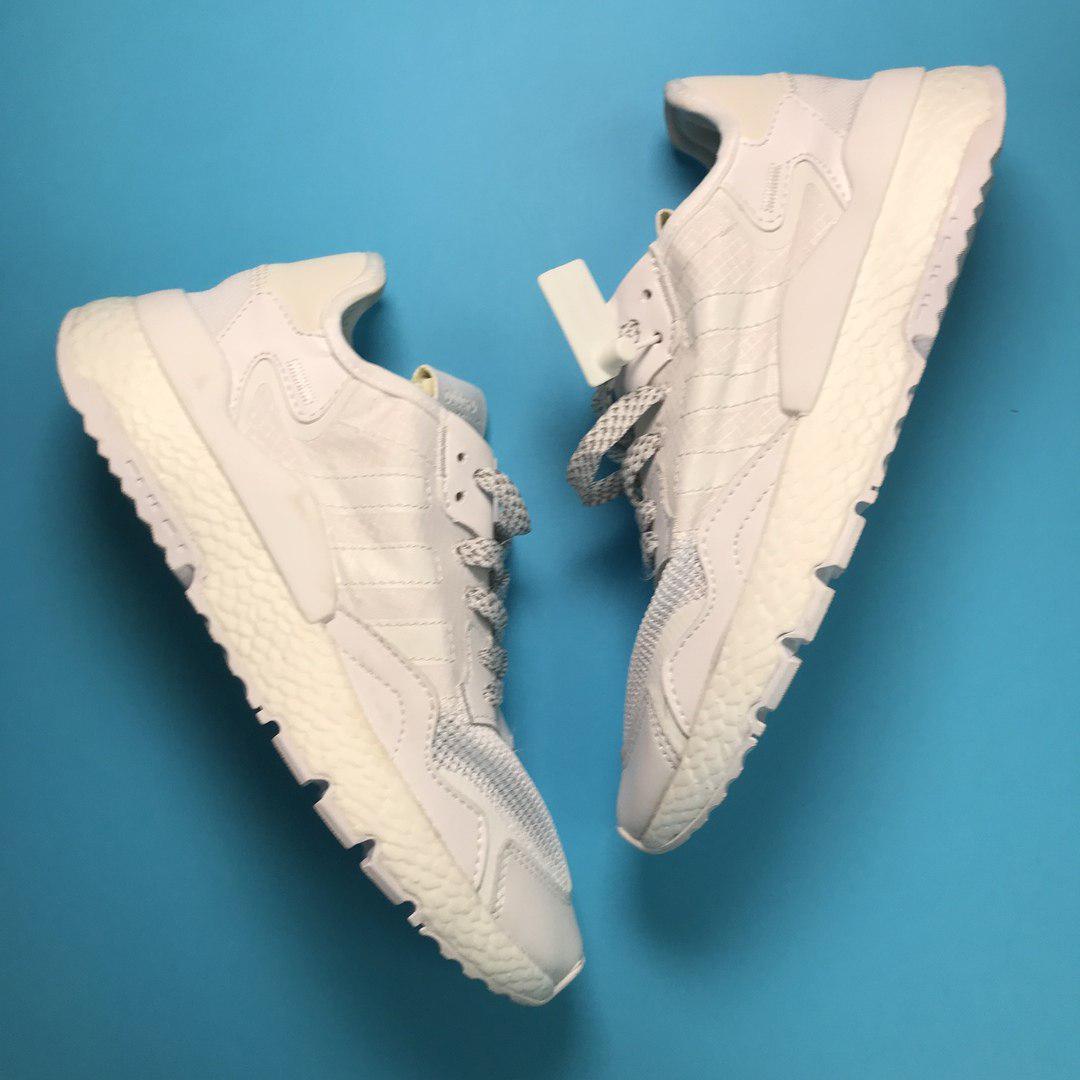 Кроссовки мужские Adidas Nite Jogger белые (Top replic)
