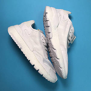 Кроссовки мужские Adidas Nite Jogger белые (Top replic), фото 2