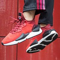 Кроссовки мужские Adidas Yohji Yamamoto Y-3 Kaiwa красные-черные (Top replic)