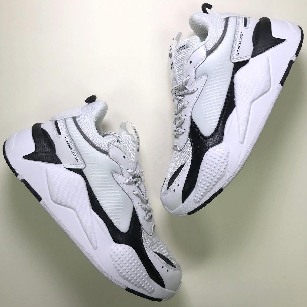 Кроссовки мужские Puma Rs-x Reinvention белые-черные (Top replic)