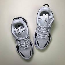 Кроссовки мужские Puma Rs-x Reinvention белые-черные (Top replic), фото 3