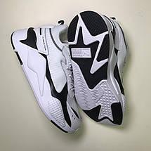 Кроссовки мужские Puma Rs-x Reinvention белые-черные (Top replic), фото 2