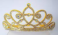 Диадема Корона принцессы Эльзы Софии высота 5 см, желтая