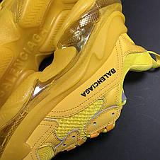 Кроссовки мужские Balenciaga Triple S желтые (Top replic), фото 3