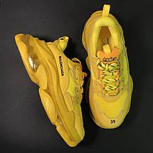 Кроссовки мужские Balenciaga Triple S желтые (Top replic), фото 2