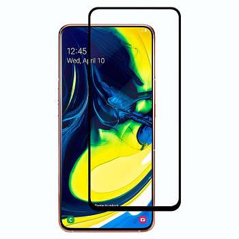 Защитное стекло 3D 9H (full glue) (без упаковки) для Samsung Galaxy A80 / A90