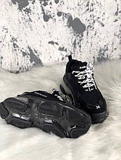 Кроссовки мужские Balenciaga Triple S Clear Sole черные (Top replic), фото 2