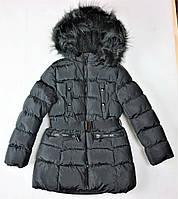 Удлиненные подростковые зимние куртки для девочки Glo-Story