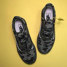 Кроссовки мужские Vans Old Skool Bape черные-камуфляж (Top replic), фото 2