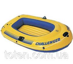 Двомісна човен Intex Човен CHALLENGER-2 68356 (218х114х33, вантаж. 115кг)