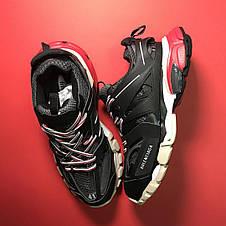 Кроссовки мужские Balenciaga Track черные-красные (Top replic), фото 2