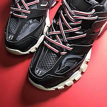 Кроссовки мужские Balenciaga Track черные-красные (Top replic), фото 3