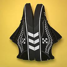 Кроссовки мужские Vans Old Skool OFF-White черные (Top replic), фото 3