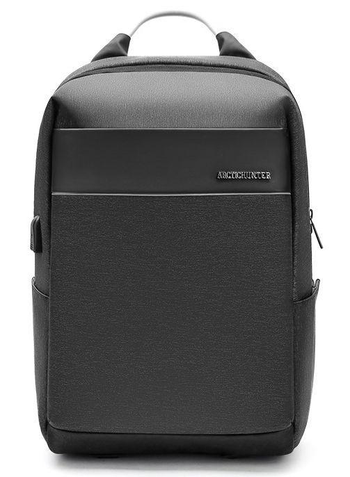 Рюкзак городской Arctic Hunter серый с usb  B00218