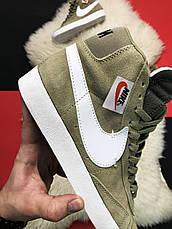 Кроссовки мужские Nike Blazer Mid темно-зеленые (Top replic), фото 3