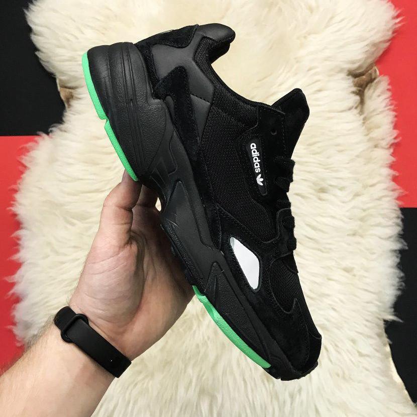 Кроссовки мужские Adidas Falcon черные (Top replic)