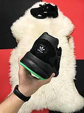 Кроссовки мужские Adidas Falcon черные (Top replic), фото 2