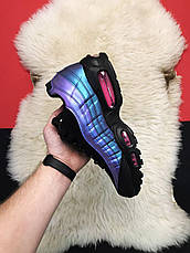 Кроссовки мужские Nike Air Max 95 черные-фиолетовые (Top replic), фото 3