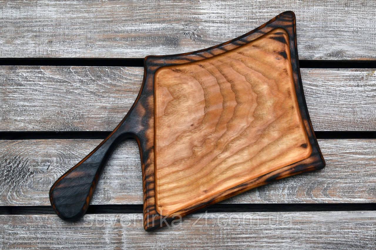 Деревянные доски для подачи.Фигурная обожженная. (A01007)