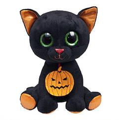 Мягкая игрушка черный Котенок Хэлли 23 см Fancy KH0