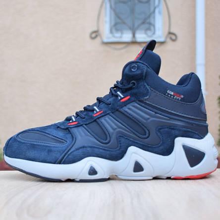 Кроссовки теплые мужские Adidas Equipment FYW S-97 на МЕХу, синие (Top replic), фото 2