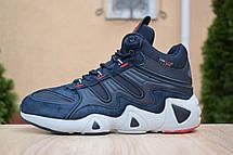 Кроссовки теплые мужские Adidas Equipment FYW S-97 на МЕХу, синие (Top replic), фото 3