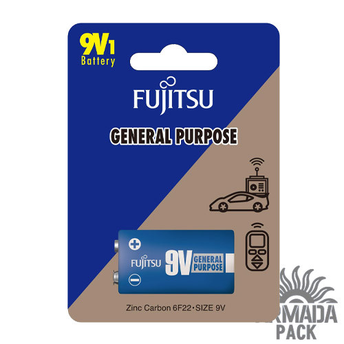 Батарейка FUJITSU солевая 9V/6F 22 (1 шт)