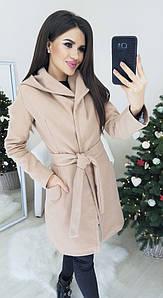 Пальто с кашемира на подкладке бежевого цвета L;M;S р-р.