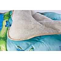 Одеяло на овчине открытое ткань поликотон. Полуторка 145*210