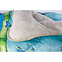 Одеяло на овчине открытое ткань поликотон. Двухспака 175*210