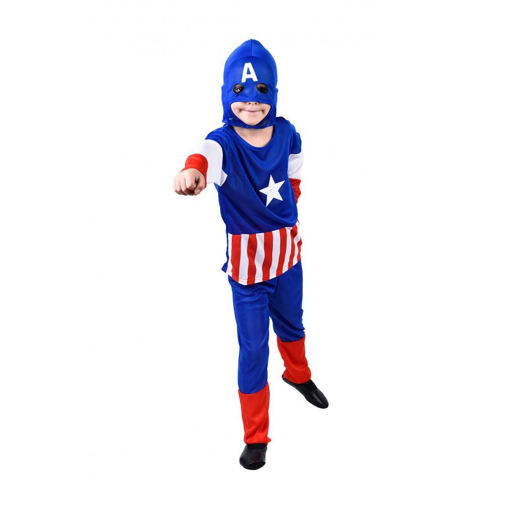 Детский костюм Капитан Америка маскарадный для мальчика