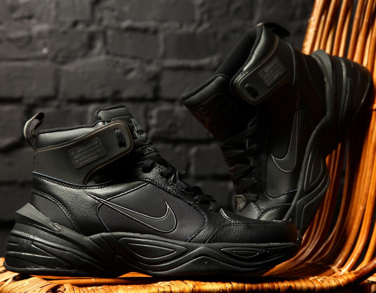 Кроссовки теплые мужские Nike M2K Tekno Winter черные (Top replic)
