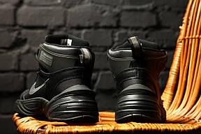 Кроссовки теплые мужские Nike M2K Tekno Winter черные (Top replic), фото 3