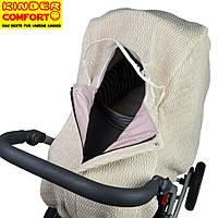 Дождевик-ветрозащита на коляску-люльку зима Kinder Comfort, бежевый, фото 1