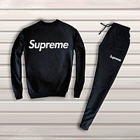 Зимний мужской спортивный костюм, спортивный костюм на флисе, зимовий костюм Supreme, Реплика