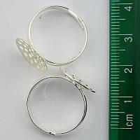 5028 Основа для кольца 14 мм. (цвет: серебро)