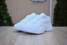 Кроссовки женские мужские Nike M2K Tekno белые (Top replic), фото 3